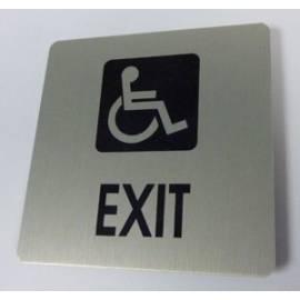 Pictogram Uitgang rolstoelgebruiker Aluminium RVS look