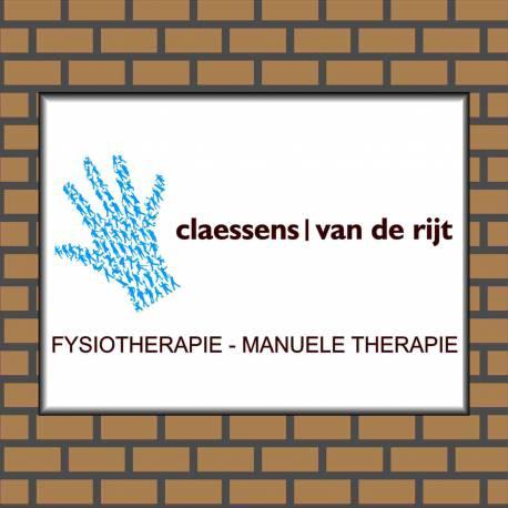 Bedrijfsnaambordje logo fysiotherapie praktijk